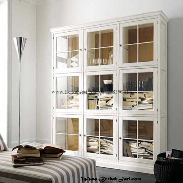 Jual Rak Buku Minimalis Pintu Kotak Cat Duco Merupakan produk Mebel jepara Furniture Rak Buku Model Minimalis Pintu Kotak Kotak dengan warna Cat Putih Duco