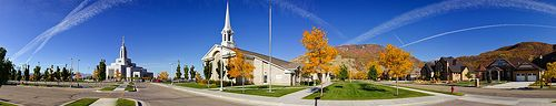 Panorama of Draper LDS Temple and Church - http://www.everythingmormon.com/panorama-of-draper-lds-temple-and-church/  #mormonproducts #LDS #mormonlife