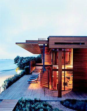 teak beach house, Malibu, Richard Meier