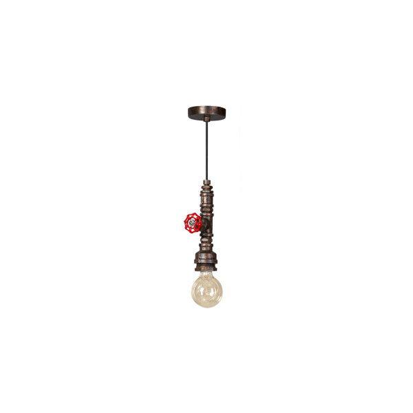 Hanglamp Firehose van het merk ETH is een industriëel vormgegeven lamp uitgevoerd in vintage brons. De lamp stelt de spuitmond van een brandslang voor.  De universele E27 fitting biedt de mogelijkheid een (LED)lamp naar keuze te plaatsen. Wij adviseren een groot formaat LED-kooldraadlamp om het industriële effect helemaal compleet te maken.