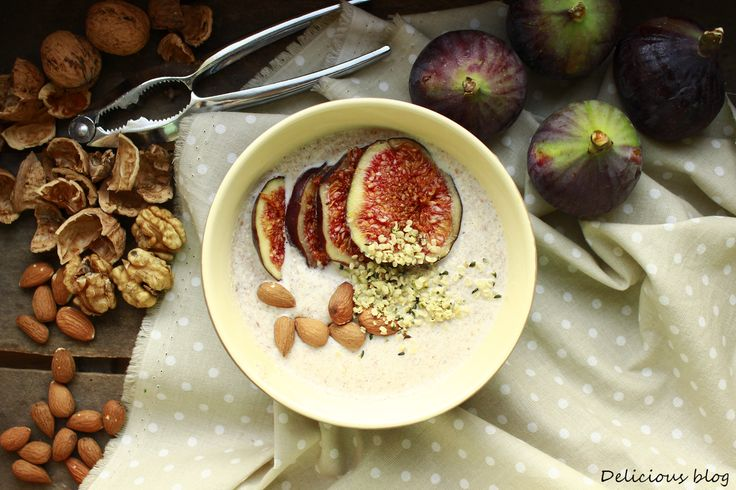 Delicious blog: Raw pohankovo-ořechová kaše s fíky
