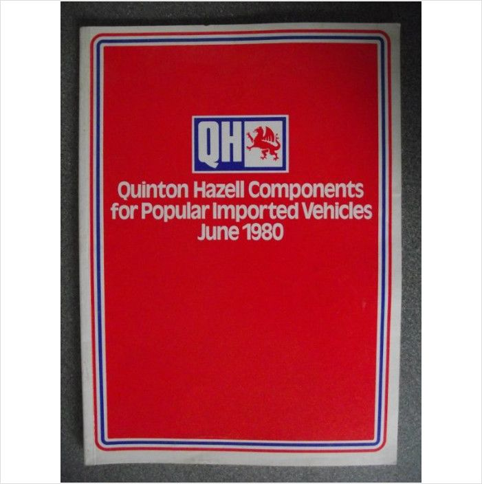 Quinton Hazell Components Catalogue 1980 1pv8006 On Ebid