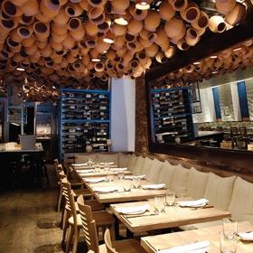 Pylos in the East Village is my favorite Greek restaurant in NYC the food is mmm mmm Mediterranean.