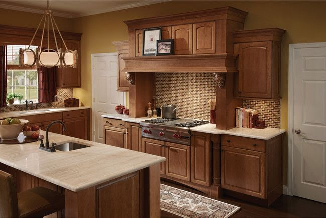 Kitchen Natural Warm Photo 14 Kraftmaid Photo Gallery Cabinet Color Countertop Color And