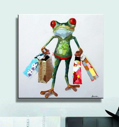 "Canvas Art ""Shopaholic Frog"""
