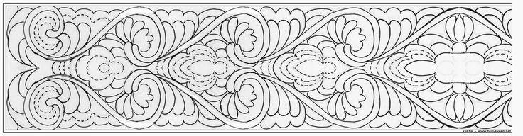 Bunad, Smykker, vev & rosemaling: Halskvarde 1896 plattsøm mønster
