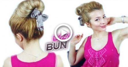 SUPER EASY HAIRSTYLE LAZY GIRL NIEDLICHES BRÖTCHEN UPDO MIT EINEM SCHAL | Ehrfürchtige Frisuren -…
