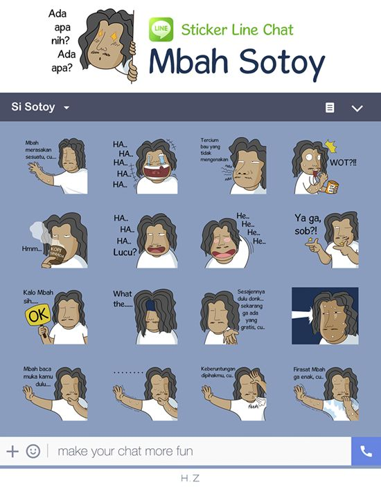 Mari bersotoy ria ala Mbah Sotoy.. http://line.me/S/sticker/1247750