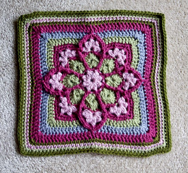 Stained Glass Afghan Square pattern by Julie Yeager