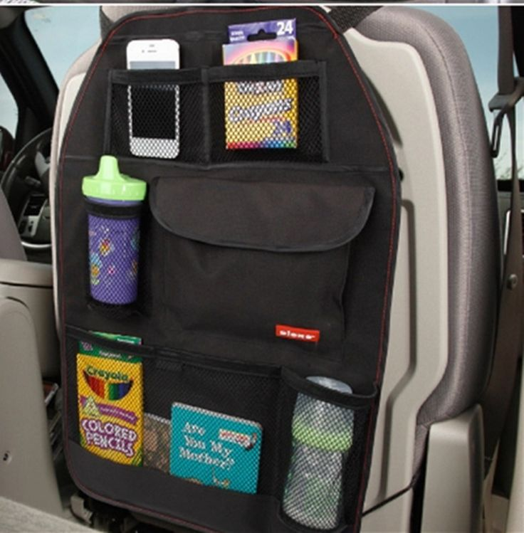 A perfect accessory to keep clean and organized your car, with adjustable straps at the top and bottom of the organizer, they keep it steady and its place without scratching your seats. It has differe