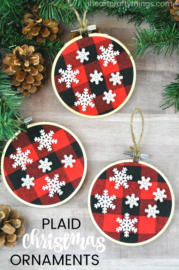 Simple Buffalo Plaid Christmas Ornaments 906 best
