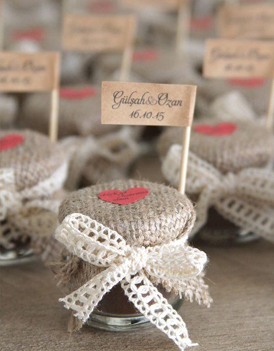 Kavanozda Türk Kahvesi, nişan hediyesi | Lovely Colors - özel tasarım düğün davetiyeleri