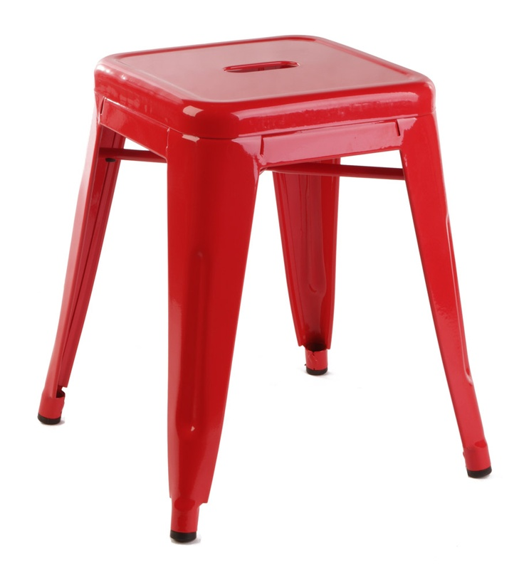 46cm Red Replica Xavier Pauchard Tolix Stool $57 Each!!  http://www.stoolsandchairs.com.au/replica-tolix-stool-46cm-red-set-of-4/  #red #xavier #pauchard #tolix #stool