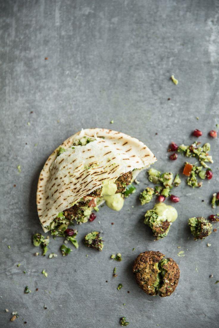 Super Green Falafel with Turmeric Tahini Sauce | Cook Republic
