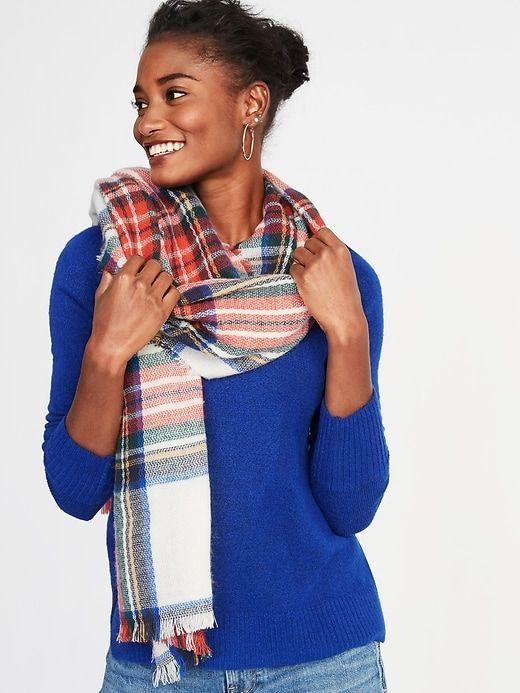 Flannel Blanket Scarf For Women Blanket Scarf Womens Scarves