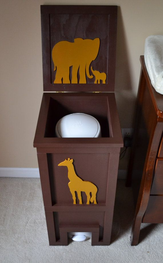 Ok we could do this...Diaper Genie Cover Box Diaper Pail Box Cover by ProfessorFinley.