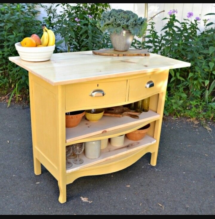 Kitchen Island Made From Old Desk: 96 Best Images About Old Dresser Into Kitchen Island On