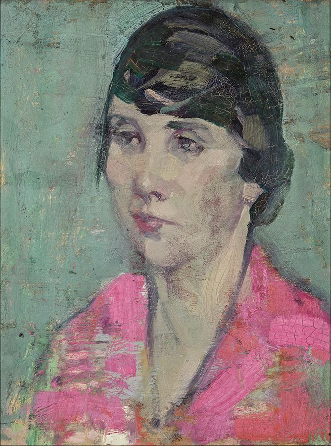 "Though untitled, this work bears a striking resemblance to Heward, and is likely a self-portrait or a portrait of one of her sisters. ""Untitled,"" c. 1925, Collection of Elizabeth and Tony Comper."