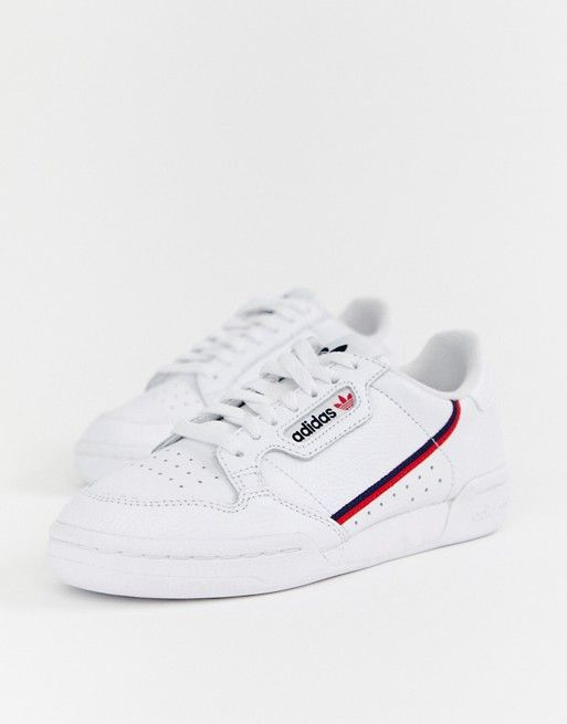 adidas Originals white Continental 80 trainers in 2019 | fit