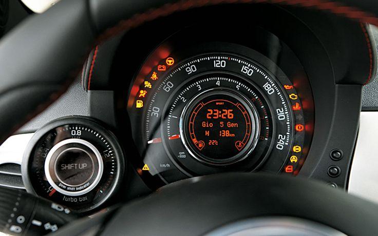 Rocket ship controls (Fiat 500 Abarth)