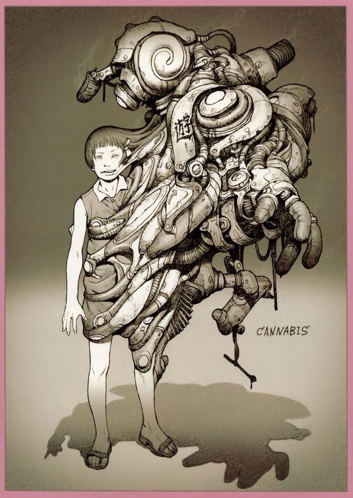 Tatsuyuki Tanaka (Canabis Works) #Art #Illustration #Drawing #Fantastic