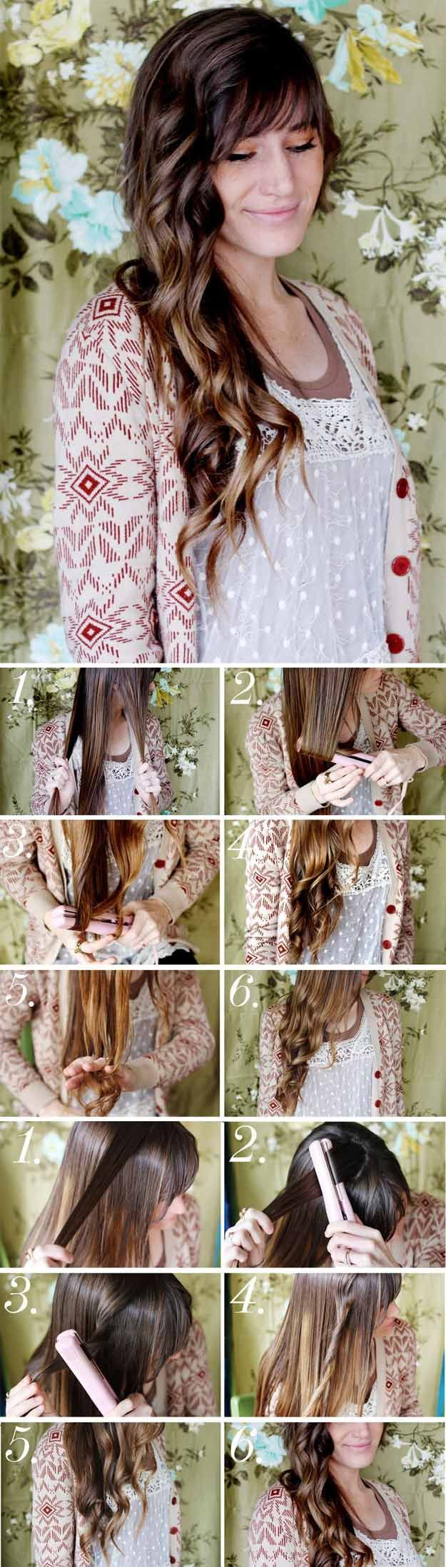 Quick And Easy Hairstyles For School : Long Wavy Hairstyles  How to Style Beachy Waves  Beautiful Long Layered Haircu