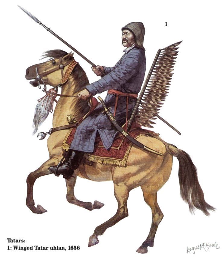 Winged Tatar uhlan, 1656