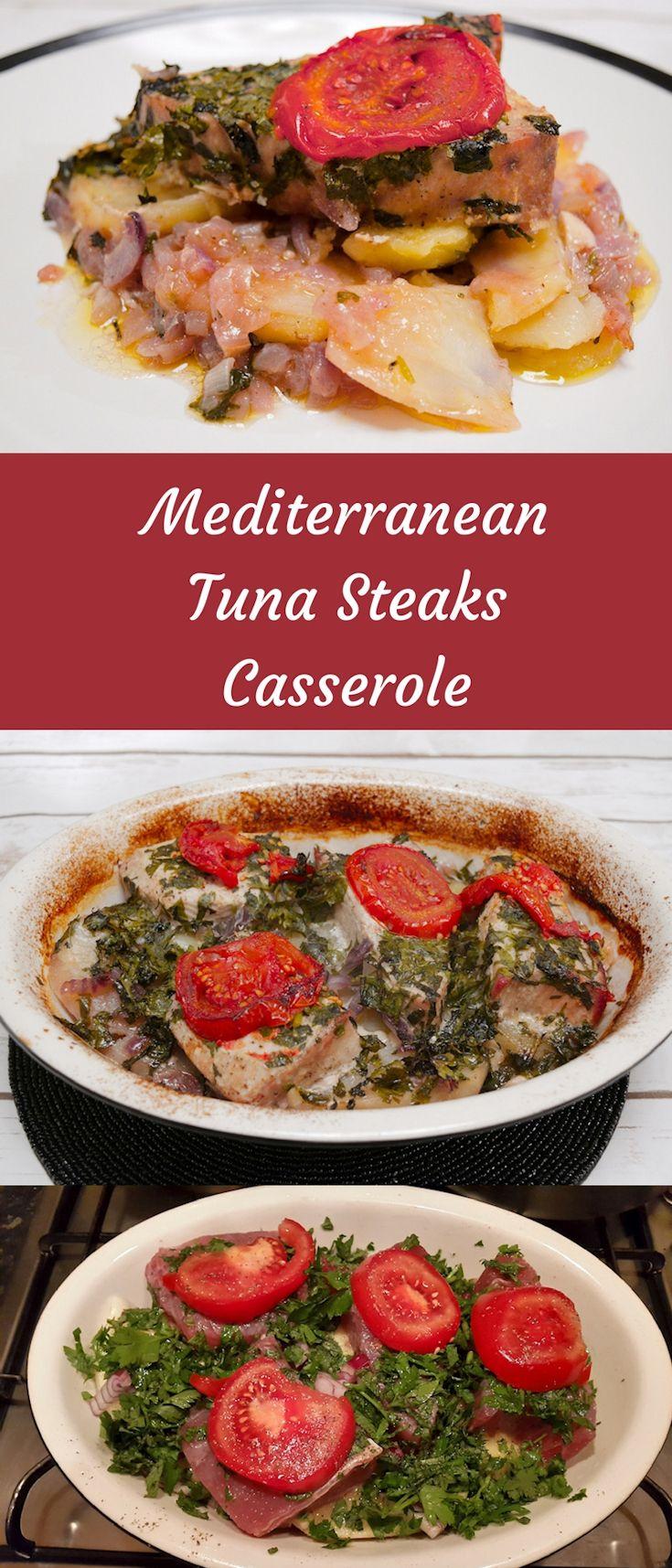 Mediterranean Tuna Steaks Casserole