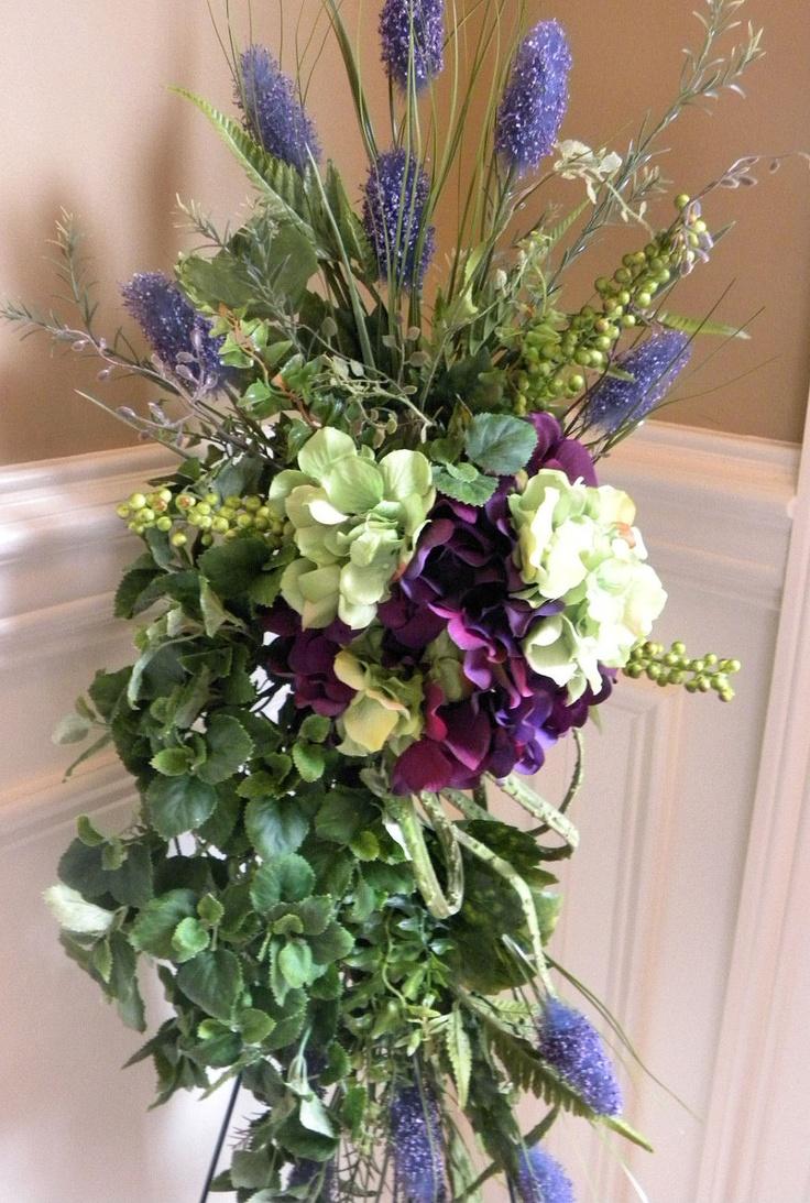 Silk Vertical Door Swag Hydrangea Purple. $49.95, via Etsy.  Craft Ideas  Pinterest  Vertical