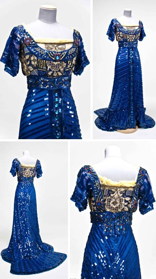via FB House of PoLeigh Naise Stunning 1909 evening gown by Callot Soeurs. Via Gregg Museum, North Carolina State Univ.