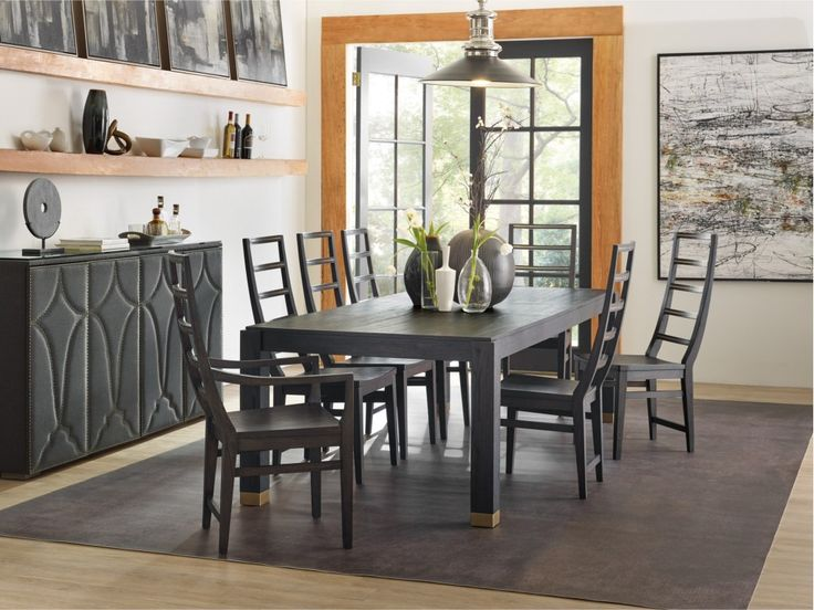 Bring Understated Modern Style To Your Home With This Formal Dining Table.  A Wooden Frame