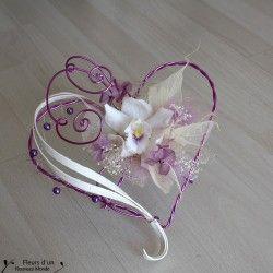 Porte alliances Coeur - Fleurs Mariage - Fleurs d'un Nouveau Monde - Fleurs d'un…