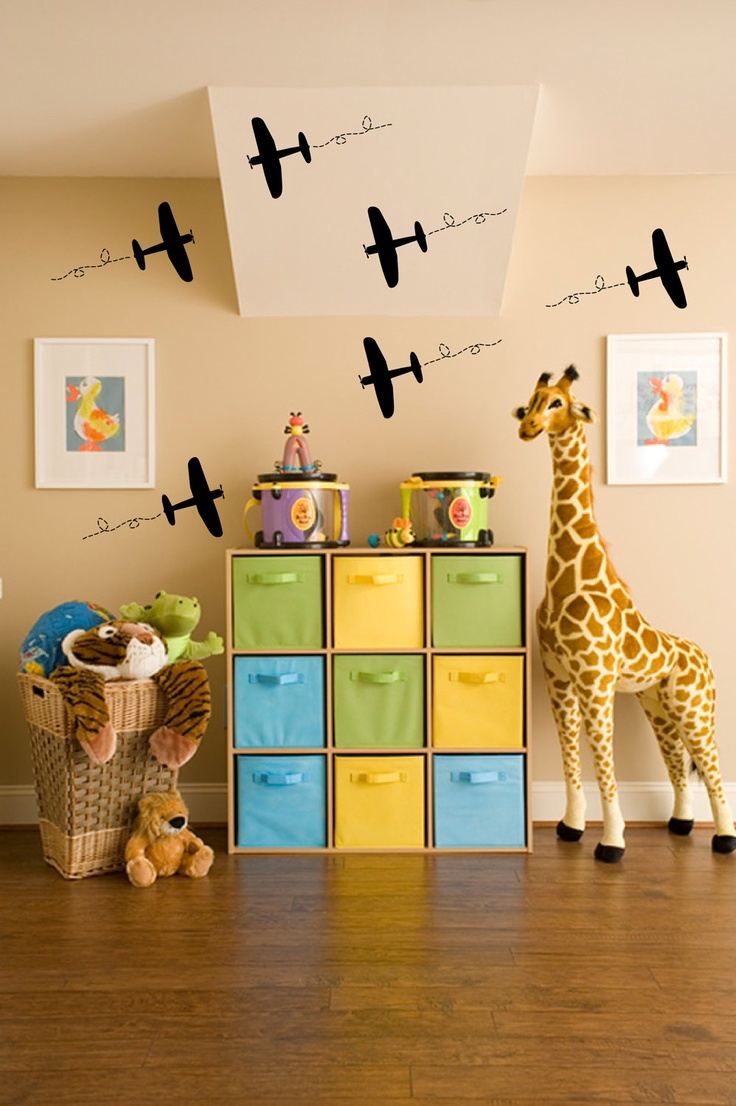 Froggies nursery wall decals by couture d 233 co - Airplane Vinyl Wall Decals By Initialyou On Etsy