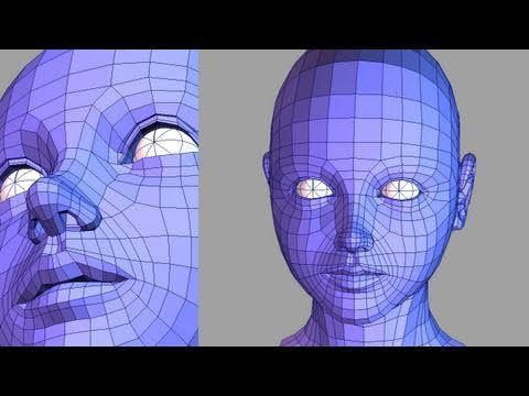 Speed up process in building up an organic face in Maya. I found it quite useful to understand how all the loop edges works in creating a 3d organic shape