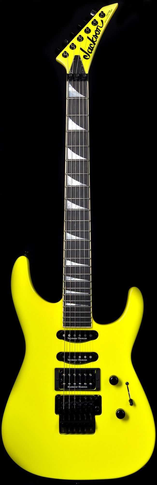Wild West Guitars : Jackson USA Custom Shop Select SL1 Soloist Neon Yellow