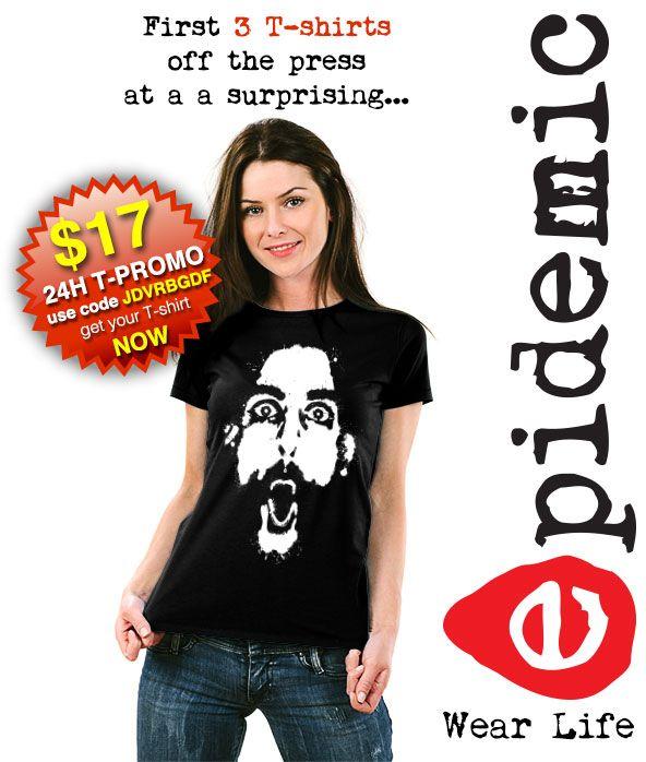 I'm selling epidemic artsy face T-shirt girl (24H PROMO) - A$16.99 #onselz