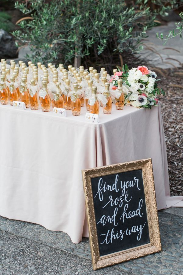 Find your rose and head this way! http://www.stylemepretty.com/california-weddings/yountville/2017/02/09/vineyard-lover-this-domaine-chandon-wedding-will-win-over-your-heart/ Photography: Blueberry - http://www.blueberryphotography.com/