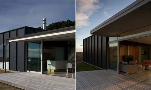 Pekapeka Beach House, Holiday House Design by Parsonson Architects - Terraces view