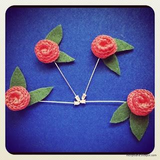 Flores de ganchillo como broches, horquillas....   Crochet flowers