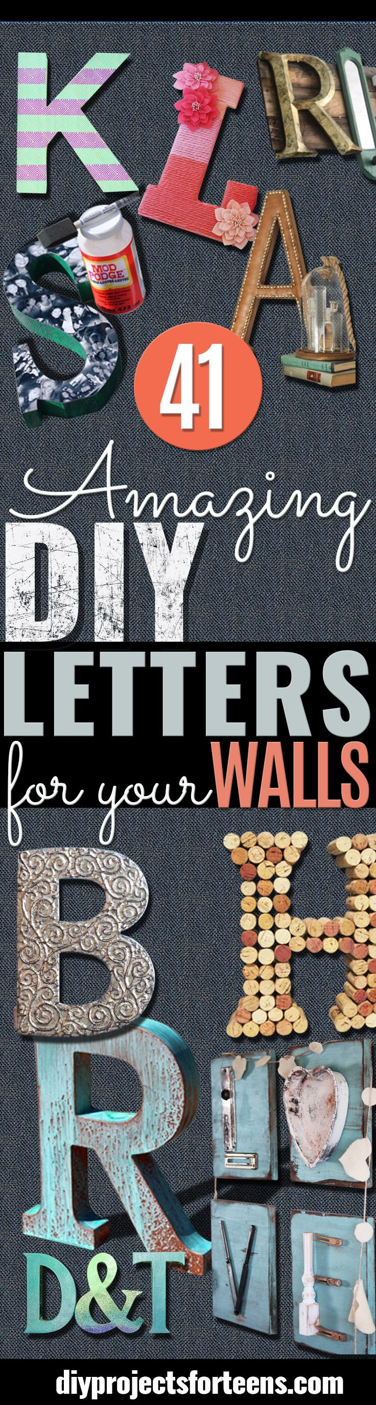 Big Silver Letters For Wall Fair Best 25 Letter Wall Art Ideas On Pinterest  Wall Word Art Design Ideas