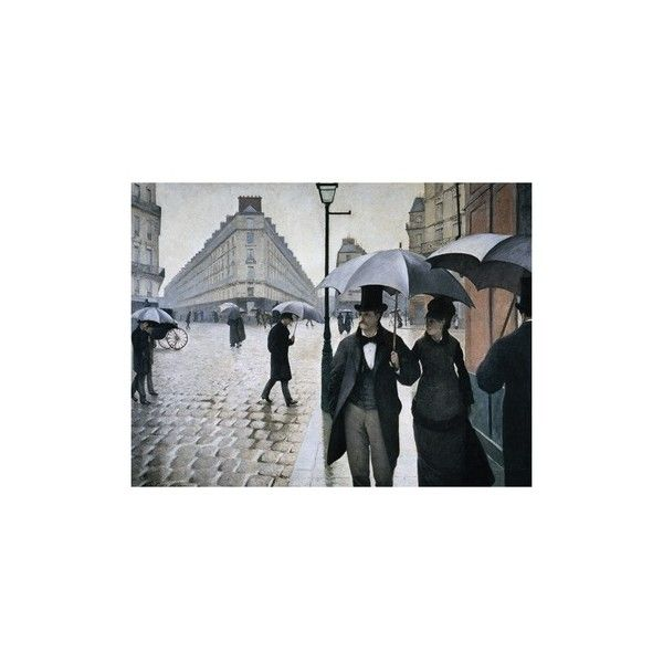 Paris Street; Rainy Day, 1877 Giclee Print Wall Art ($36) ❤ liked on Polyvore featuring home, home decor, wall art, paris wall art, paris home decor, parisian wall art, giclee wall art and parisian home decor