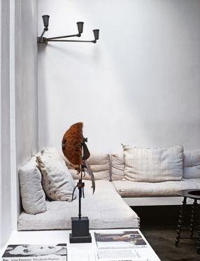 // built-in sofa