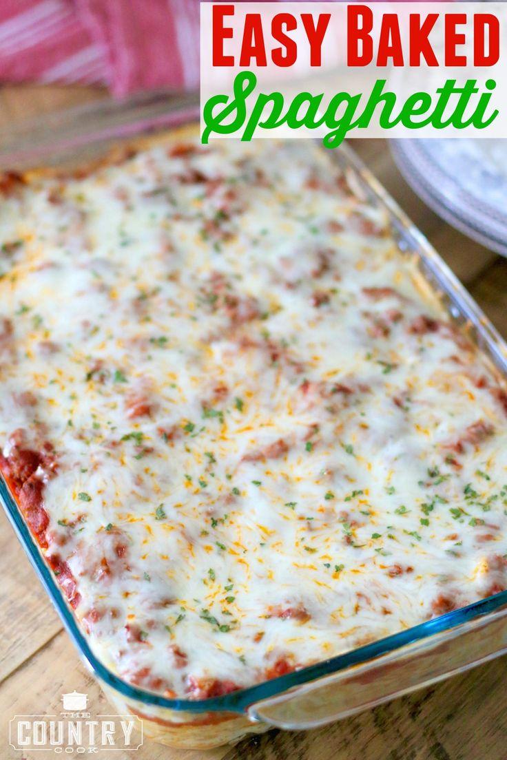 Easy Baked Spaghetti (Spasagna)