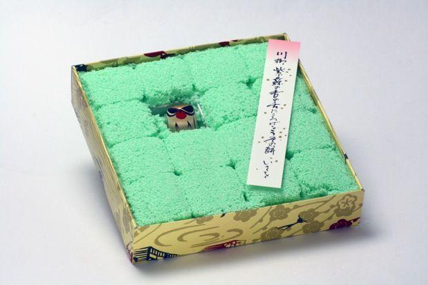 今日のおやつは、福岡県は太宰府にある「梅園菓子処」の「うその餅」。とっても人気がある、太宰府のお土産…