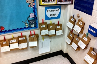 Inference Bags - write clues to go along with the bag. See if the kids can guess what's inside.