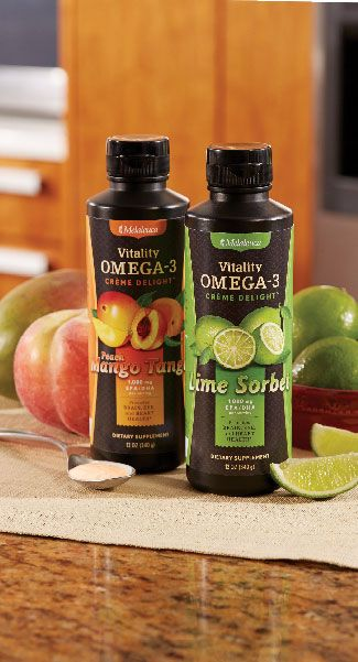 Another breakthrough by Melaleuca. Omega 3's are critical for health, but supplemental sources taste horrible! Not now. Omega-3 Creme Delight is delicious!