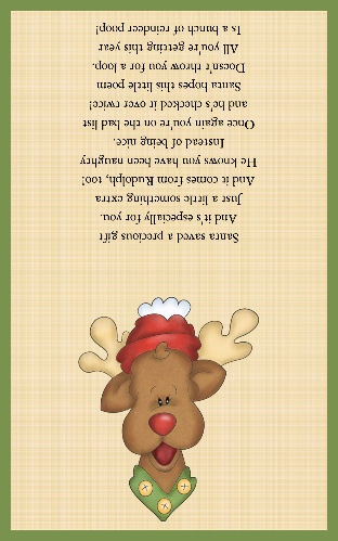 reindeer poop food fun label