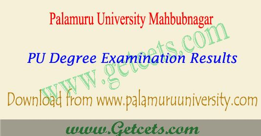 Palamuru university degree 3rd sem results 2018 | Notification