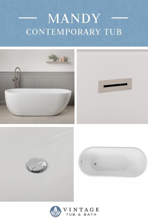 Mandy Acrylic Contemporary Freestanding Tub No Faucet Drillings