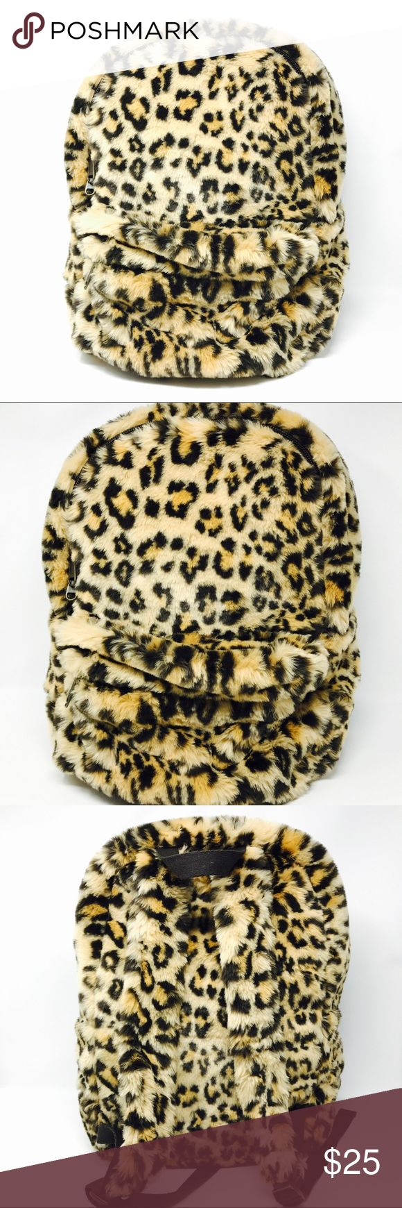 "Pottery Barn Teen Faux Leopard Fur Backpack Super cute pottery barn teen faux fur leopard print backpack! In amazing condition. Does have pen marks inside, but other then that the bag is in perfect shape. Perfect for every day or school. Super fun. Perfect for airports or class when it gets cold and you can cuddle up with your backpack and keep warm. 14""L x 6""W x 19""H pottery barn teen Bags Backpacks"